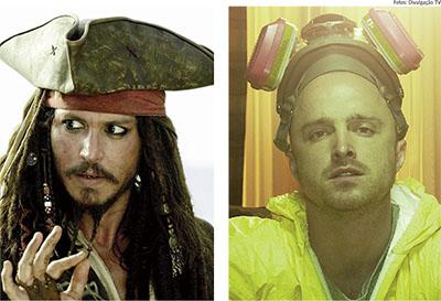 """O capitão Jack Sparrow, de """"Piratas do Caribe"""" virou chefe de cirurgia e Jesse Pinkman, traficante no seriado """"Breaking Bad"""", uma das vítimas da """"overdose de maconha"""": falta de checagem simples causou gafe em site oficial"""