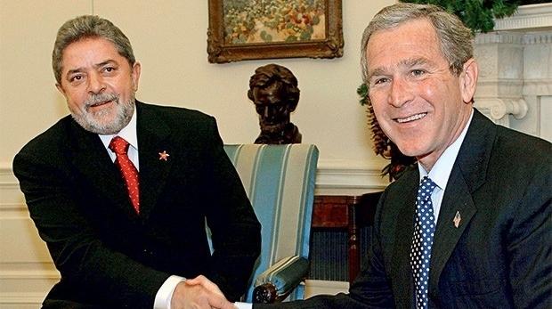 George W. Bush gostava mais de Lula da Silva que de Fernando Henrique Cardoso