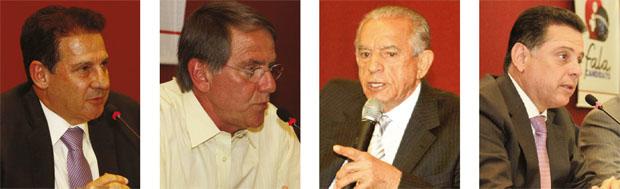 Vanderlan Cardoso (PSB), Antônio Gomide (PT), Iris Rezende (PMDB) e Marconi Perillo (PSDB), os quatro principais candidatos ao governo, apresentaram suas propostas de governo na sede da OAB Goiás