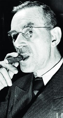 Thomas Mann, considerado um dos maiores romancistas do século 20, ganhador do Prêmio Nobel de Literatura
