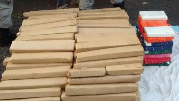 Polícia apreende 344 kg de cocaína e maconha em Goiatuba