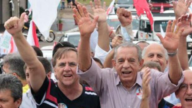 Na reta final, Iris faz campanha com Gomide e Paulo Garcia