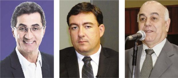 Chiquinho Oliveira, José Vitti e Hélio de Sousa: os três que mais articulam pela presidência da Casa