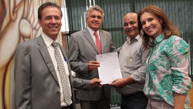 Caiado se compromete a apoiar o prefeito de Porangatu na construção do hospital municipal