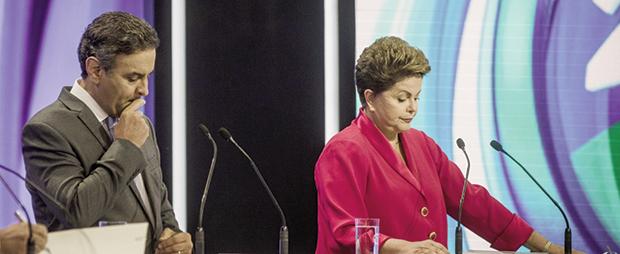 "Aécio Neves e Dilma Rousseff: caberá a um deles tomar medidas para ""consertar"" a economia do País"