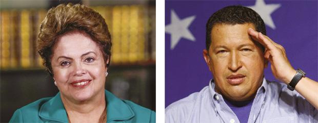 Dilma Rousseff e Hugo Chávez: será que a presidente quer ficar na história como a herdeira brasileira do político venezuelano? / Fotos: Roberto Stuckert Filho/PR / Reuters