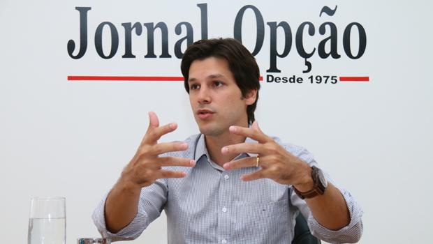 Deputado federal e presidente do PMDB Goiás, Daniel Vilela, em entrevista ao Jornal Opção   Foto: Fernando Leite/ Jornal Opção