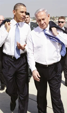 Barack Obama e Benyamin Netanyahu: os dois não estão andando na mesma linha | Foto: Official White House Photo by Pete Souza)