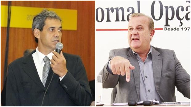 Vereador Carlos Soares e prefeito Paulo Garcia: dissenso entre aliados e Paço | Fotos: Eduardo Nogueira / Fernando Leite