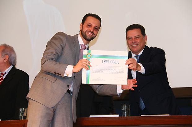 Alexandre Baldy (PSDB) posa com governador Marconi Perillo