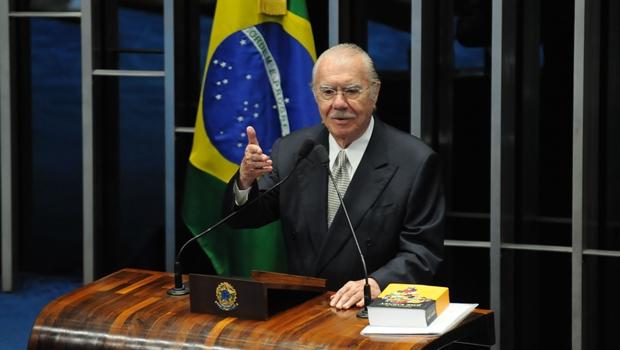 Senador José Sarney em pronunciamento de despedida dos seus colegas | Foto: Fabio Rodrigues Pozzebom/Agência Brasil