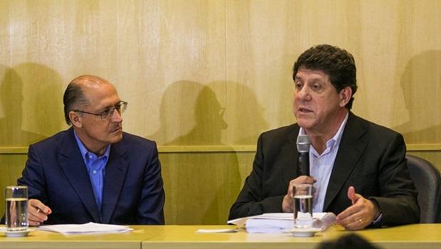 Governador Geraldo Alckmin (PSDB) e o secretário de Saúde de São Paulo, David Uip