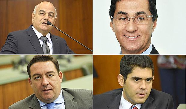 Helio de Sousa (canto direito superior), Chiquinho Oliveira, José Vitti e Lincoln Tejota | Fotos: Y. Maedae Marcos Kennedy/Assembleia Legislativa