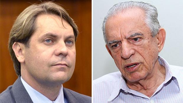 Nos bastidores, foi dito que o maior líder do PMDB não foi consultado por Bruno Peixoto (à esquerda) | Fotos: Assembleia Legislativa e Fernando Leite/Jornal Opção