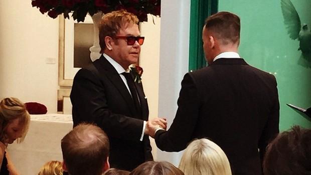 David Furnish e Elton John oficializam união | Foto: Reprodução/ Instagram