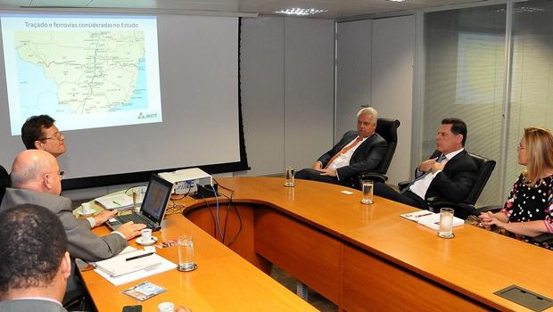 Marconi e presidente da ANTT definem cronograma do projeto de trem rápido interligando Goiânia e Brasília