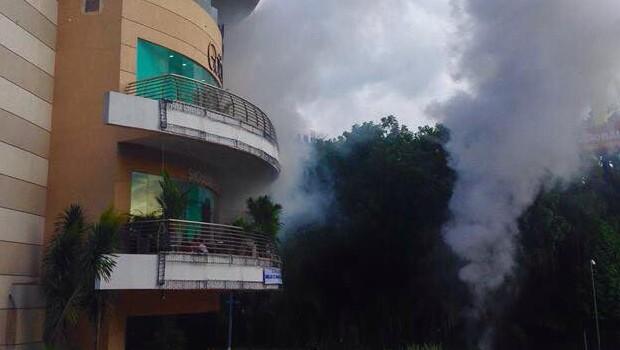 Não se assuste! Incêndio no Goiânia Shopping é simulação dos bombeiros