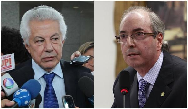 Candidatos à presidência da Câmara: Arlindo Chinaglia (PT) e Eduardo Cunha (PMDB). Briga promete ser boa | Fotos: sites oficiais PT e PMDB