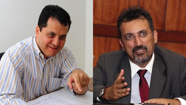Vice-prefeito Agenor Mariano e deputado Humberto Aidar: personalidades fortes externam a divisão de seus partidos | Fotos: Fernando Leite/Jornal Opção