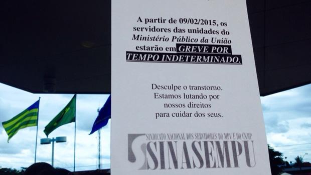 Servidores do MPF-GO e do Ministério do Trabalho deflagram greve