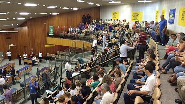 Galerias da Casa estão ocupadas por servidores | Foto: Câmara de Goiânia/Twitter
