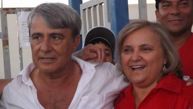 Prefeita Etélia Vanja Gonçalves (PDT) e o marido, Gervásio Gonçalves da Silva, que chegou a ser detido por compra de voto durante a campanha | Foto: reprodução / Facebook