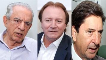 Iris Rezende, Júnior Friboi e Maguito Vileladisputam a influência dentro do PMDB visando o pleito de 2018