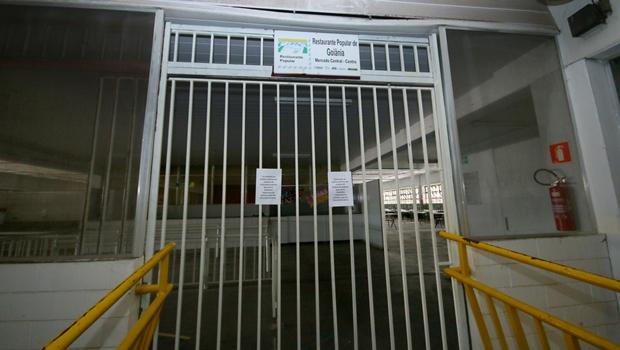 Por falta de pagamento, Restaurante Popular de Goiânia segue de portas fechadas