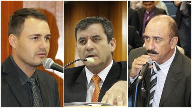 Vereadores peemedebistas Mizair Lemes Jr., Clécio Alves e Izídio Alves: nada de impeachment | Fotos: Câmara Municipal de Goiânia