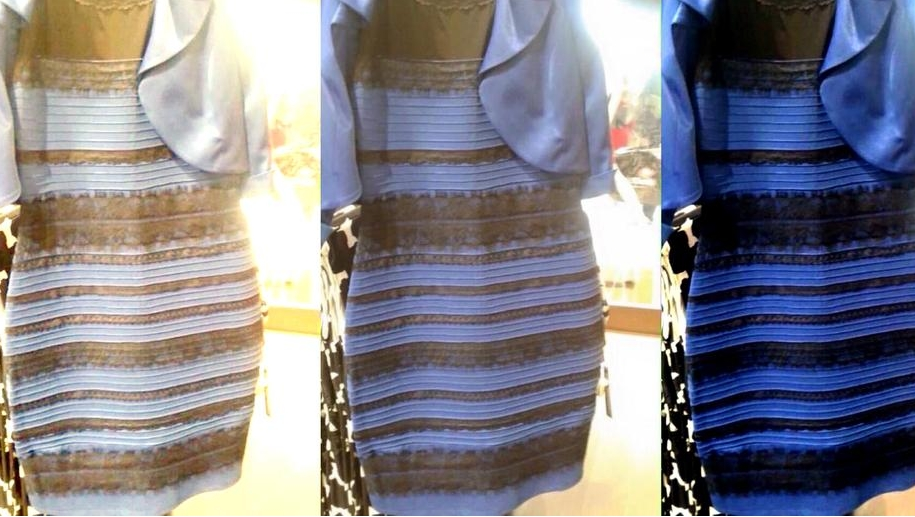Vestido azul e preto cor original