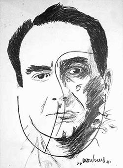 Retrato de Herberto Helder por João Dionísio
