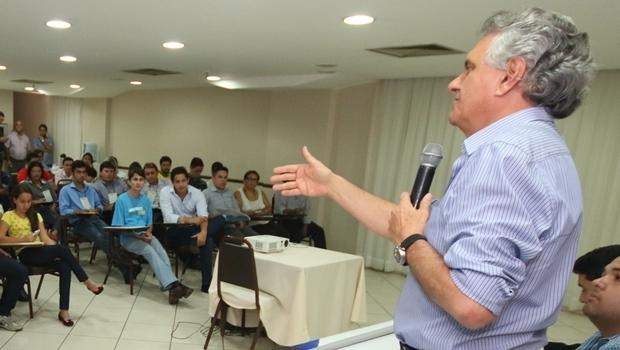 Senador defende postura oposicionista e coerente do DEM, em evento na capital goiana | Foto: Leandro Vieira