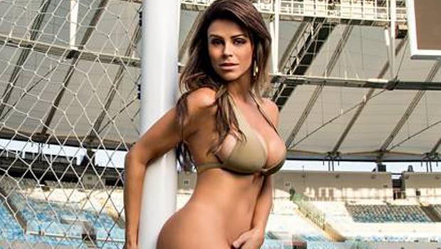 Ex-namorada de Ricardo Teixeira tira a roupa para a Playboy em pleno Maracanã