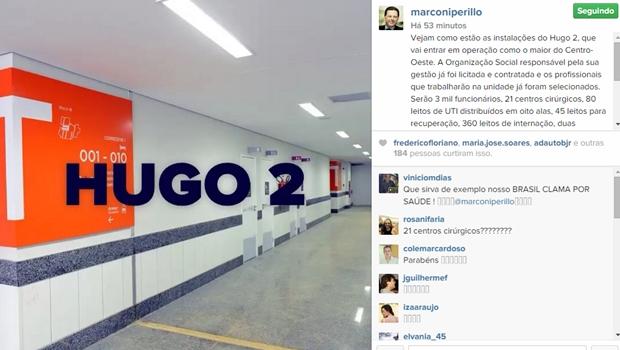 Pelo Instagram, Marconi apresenta instalações do Hugo 2