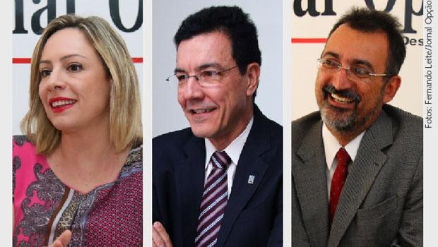 Adriana Accorsi, Edward Madureira e Humberto Aidar: um deles deve ser candidato a prefeito de Goiânia pelo PT. O 2º tem menos desgaste