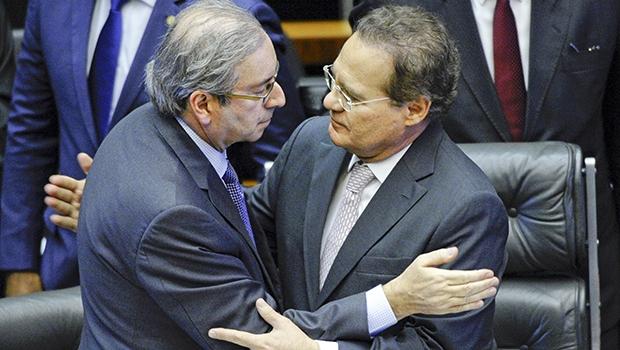 Cunha e Renan, agora no olho do furacão, acusam o governo federal | Foto: Edilson Rodrigues/Agência Senado