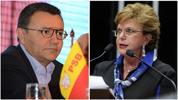 Senadora Lúcia Vânia discute filiação com presidente nacional do PSB