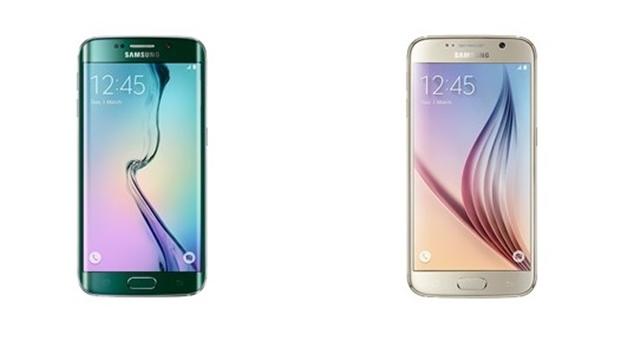 À esquerda o Galaxy S 6 e  à direita, o S6 Edge, lançamentos da Samsung | Foto: reprodução / site oficial Samsung