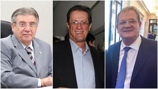 Presidência do diretório estadual em Goiás está entre Cyro Miranda, Olier Alves e Sérgio Cardoso | Fotos: Agência Senado / Leoiran / Facebook