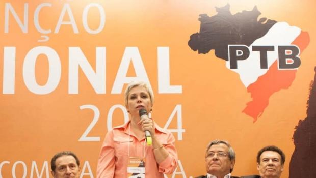 A presidente do PTB, Cristiane Brasil | Foto: Reprodução/Facebook