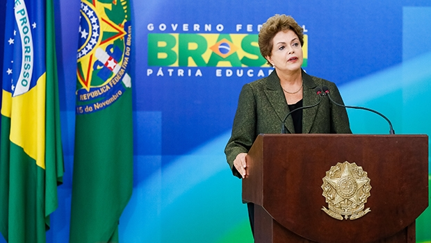 Dilma Rousseff: obrigada a dividir o poder com o PMDB   Roberto Stuckert Filho/ PR