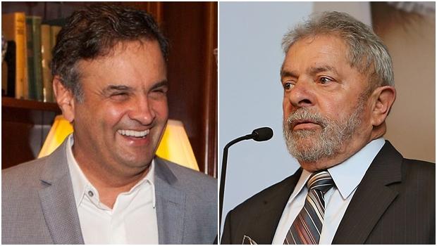 Aécio é o preferido, Lula vem em seguida / Foto: Facebook / Ricardo Stuckert