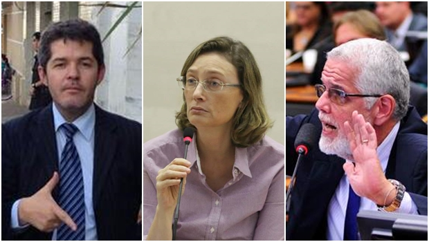 Delegado Waldir aciona Maria do Rosário e Jorge Solla, ambos do PT | Fotos: reprodução / Facebook