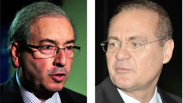 Eduardo Cunha, presidente da Câmara dos Deputados, e Renan Calheiros, presidente do Senado: uma batalha à vista entre os dois peemedebistas? | Reprodução/Band | Divulgação