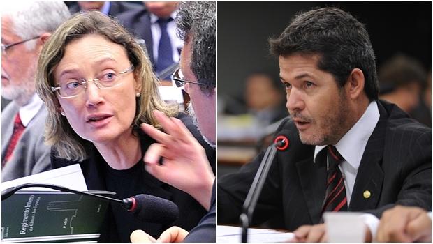 """Deputada petista Maria do Rosário questiona """"sanidade"""" do deputado Delegado Waldir (PSDB)   Fotos: Câmara Federal"""