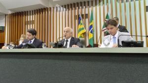 """""""As portas do meu gabinete estão abertas para todos aqueles que quserem dialogar"""", afirma presidente da Assembleia, Helio de Sousa (DEM  Foto: Marcos Kennedy"""