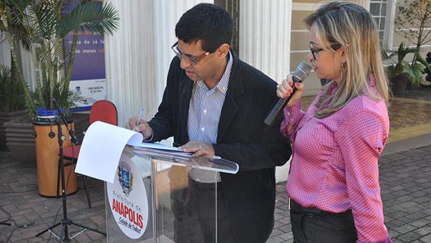 Francisco Rosa assinou carta de intenção de parceria de combate às drogas