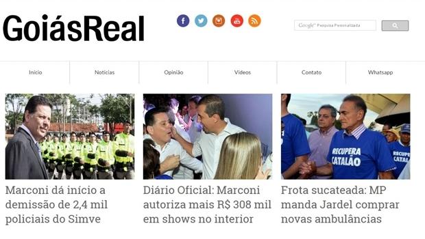 GoiásReal | Foto: reprodução / site