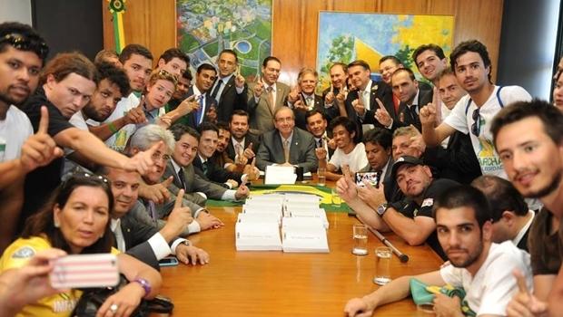 Integrantes do movimento se reuniram com Eduardo Cunha | Foto: Reprodução/Facebook Eduardo Cunha