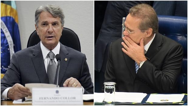 Fernando Collor (esquerda) e Renan Calheiros estão sendo investigados na Operação Lava Jato   Fotos: Fotos Públicas